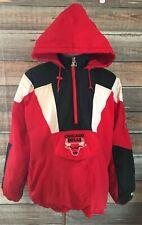 62c1e594602 Vintage 90 s CHICAGO BULLS Pullover Starter Jacket Size Xl NBA Basketball