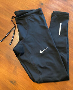 Mens Black Nike Dri-Fit Zip Ankle Tracksuit Bottoms, Size S, Pristine Condition