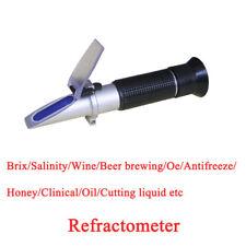 Free Shipping Honey Refractometer 58-90% Brix 12-27%water  RHB-90ATC