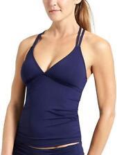 NWT Athleta Cross Strap Tankini Swim Top, Dress Blue SIZE LT L T   #578174 v79
