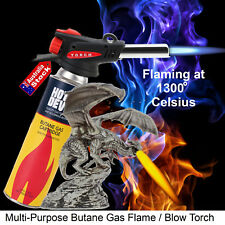 BUTANE GAS BLOW TORCH BURNER WELDING SOLDER IRON SOLDERING LOGHTER FIRE TOOL AU