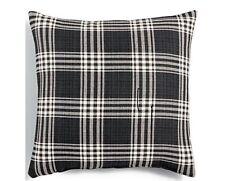"New Set Of 4-Hallmart Collectibles-Black & White Plaid Pillow 20"""