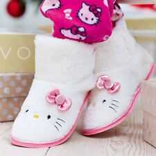Hello Kitty Pink & White Slippers Boots Ideal Christmas Gift or Stocking Filler
