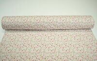 """12 Yards Pink Green Flowers Print Quilt Fabric Apparel Upholstery 45"""" Wide #124"""