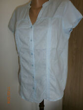 süße hellblaue Damen Kurzarm-Bluse Gr.44 von Yessica