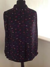 Monsoon navy print blouse Size 8