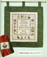 MERRY CHRISTMAS SAMPLER  -  CROSS STITCH PATTERN ONLY HM - QYP