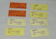 8 Vintage Paris Metro Autobus Tickets Used 1992 RATP 19192