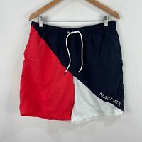 Nautica Mens Shorts M/L Multicoloured Elastic Waist Drawstring Pockets