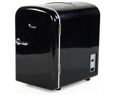 4 Litre Cristal Mini Table Top/Portable Travel Fridge- Black + 12v in car lead