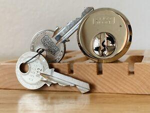 Zeiss Ikon High Security Mortise Lock Cylinder w/ 2 Keys Locksport KD Spools