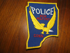 NEW MILFORD CONNECTICUT POLICE PATCH (5 INCH VERSION)