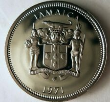 1971 JAMAICA 10 CENTS - Low Mintage Proof Coin - Jamaica Proof Bin #2