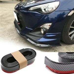 2.5M Universal Carbon Fiber Front Bumper Lip Splitter Chin Spoiler Body Trim 8ft