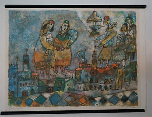 Original Print Listed Artist Theo Tobiasse Dans les Rues de la Belle Verone AP