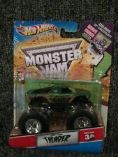 2010 Hot Wheels Monster Jam Thunder with 30th Ann Grave Digger Poster NIP