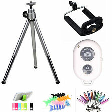 Tripod Holder + Bluetooth Remote Control Shutter for iPhone 6S 6 Plus 5S 5 silve