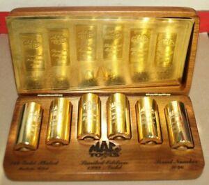 MAC Tools 1999 Limited 24k Gold Plated Socket Set Wood Display Box w/Box