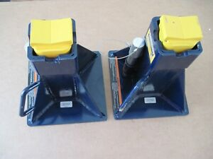 Pair of Hein-Werner HW93526F 25 Ton Jack Stand Lift Capacity Vehicle Support