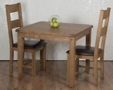Solid Wood Up to 4 Seats 3 Piece Table & Chair Sets