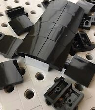 LEGO Black Smooth Tile Plate With Bow 2X2X2/3 Roof Floor Tiles New Lot Of 24