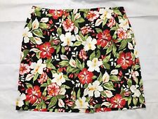 Jones New York Signature Skirt Size 22W Floral Stretch Rear Zip Back Slit NWT