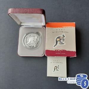 2001 $1 SILVER ROO KANGAROO 1OZ SILVER PROOF COIN