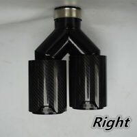 """Universal Gloss Car Carbon Fiber Exhaust Tip Dual Cover Right for BMW 2.5"""" Inlet"""