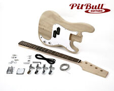 Pit Bull Guitars PBA-4 Electric Bass Guitar Kit (Ash body)