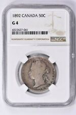 1892 Canada 50 Cents NGC G 4  Witter Coin