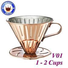New Cafe de Tiamo V01 Stainless Steel Coffee Dripper w/ Measuring Spoon HG5033BZ