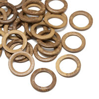 20pc BurlyWood Wood Jewelry Findings Coconut Linking Rings Connector 35~36x3~6mm