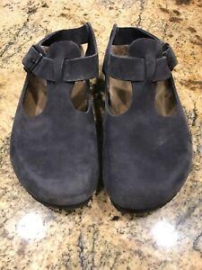 Birkenstock Womens Size 6 EU 37 LG Tokio Prof Blue Leather Clogs