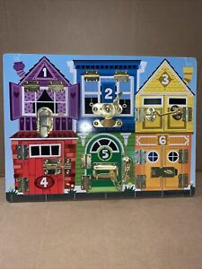 Melissa & Doug 13785 Board With Closures - GREAT CONDITION - 99p start
