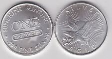 Nessuna data USA Eagle un grammo ARGENTO 0.999 in NEAR MINT CONDITION