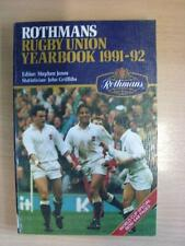 1991/1992 Rothmans: Rugby Union Yearbook [Soft Back Book] (ex library edition)