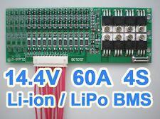 14.8V 14.4V 4S 60A Lithium ion Li-ion Li-Po LiPo Polymer Battery BMS PCB System