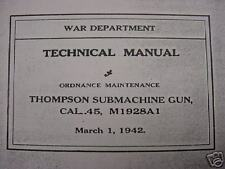 (Two) Thompson Machine Gun Manuals Cal.45 M1928A1 & .45 M1 on CD