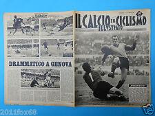 1963 il calcio e ciclismo illustrato n. 7 genoa napoli catania roma manfredini