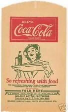 10 Alike Vintage Coca Cola No Drips Lunch Lady w/ Tray Coke Soda