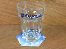 Hoegaarden Beer Single Glass & 12 Hoegaarden Coasters!