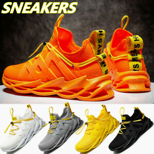Men's Lace Up Trainers Shoes Casual Lightweight Breathable Mesh Tennis Sneakers