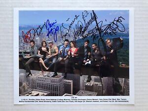 CSI:NY 2008 CBS TV Promo Cast Signed PHOTO GARY SINISE MELINA KANAKAREDES +++
