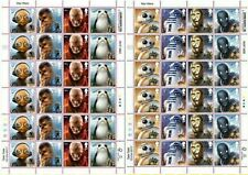 STAR WARS STAMPS,2017 Droids Alien Official ,sheets x2 ,48 stamps, FREE DEL