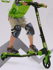 Yvolution Y Fliker A1 Scooter de 3 ruedas de aire en verde