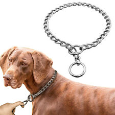 Silver Chain Dog Collar P Choke/Check Slip Training Collar Metal Stainless Steel