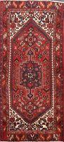 Vintage Nomad Hamedan Hand-knotted Geometric Area Rug Wool Oriental 3'x6' Carpet