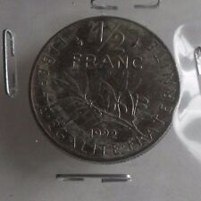 50 centimes semeuse 1992 : TB : pièce de monnaie française