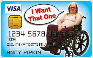 Andy Pipkin - Little Britain Novelty Plastic Credit Card
