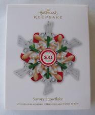 Hallmark 2011 Savory Snowflake Baking Kitchen Christmas Keepsake Ornament